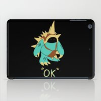 kim sy ok iPad Cases featuring Ok by Yiannis