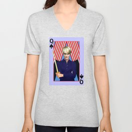Claire - A Modern Lady Macbeth- Version 3 Unisex V-Neck