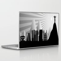 rio de janeiro Laptop & iPad Skins featuring Rio de Janeiro skyline by siloto