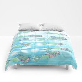 Mermaid migration Comforters