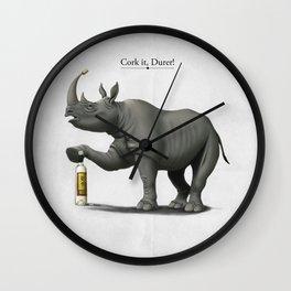 Cork it, Durer! Wall Clock