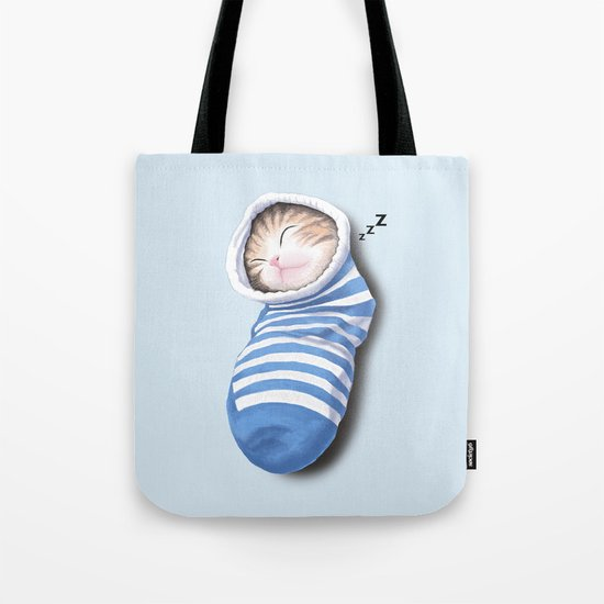 Cat in the Sock Tote Bag