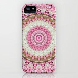 Pink Floral Mandala iPhone Case