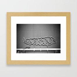 Shadow Grafitti  Framed Art Print