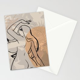 Big boobs & booty cartoon character line art sexy girl print naked woman drawing ass story template Stationery Cards