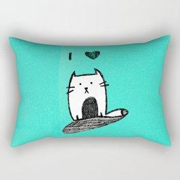 I Heart Cats Rectangular Pillow