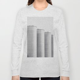 Industrial, architecture photography, fine art, black & white photo, b&w urban, man cave gift Long Sleeve T-shirt