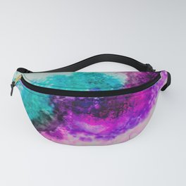 Teal and Purple Collision Fanny Pack