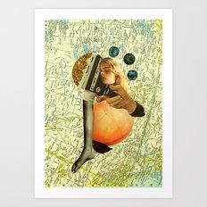 shifting shapes into you Art Print