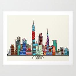 Cleveland city  Art Print