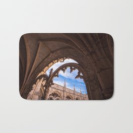 Cloisters of Jeronimos Monastery in Lisbon, Portugal Bath Mat