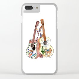 Guitar Couple Clear iPhone Case