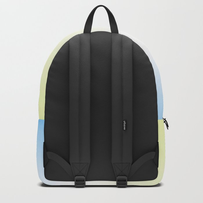 Blue White Yellow Gradient Backpack