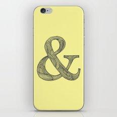 Yellow Ampersand iPhone Skin