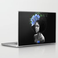 afro Laptop & iPad Skins featuring Blossom afro by Masha