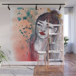 Fille rouge Wall Mural