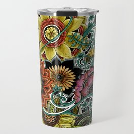 Flower explosion Travel Mug