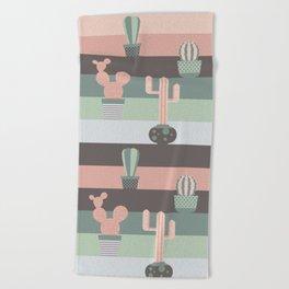 cacti colors Beach Towel