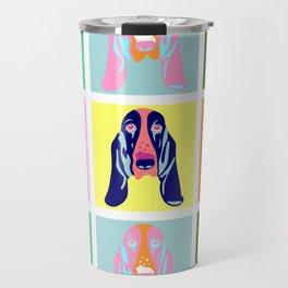 Basset Hound Dog Pop Art Travel Mug