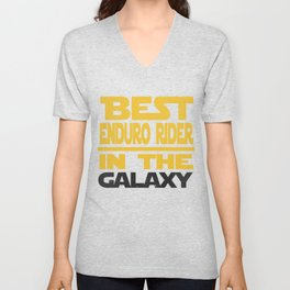 Best Enduro Rider In The Galaxy Unisex V-Neck