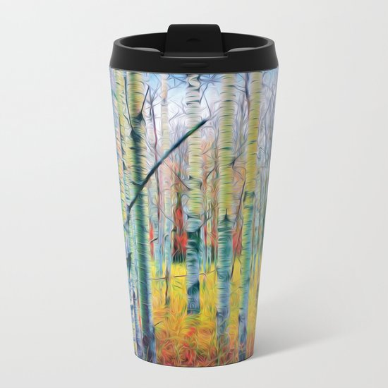 Aspen Trees in the Fall Metal Travel Mug