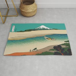 Tama River and Mount Fuji Rug