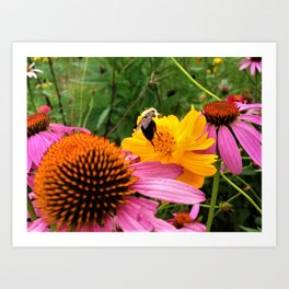 A Work Day For The Bee Art Print
