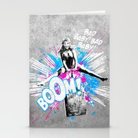 girl power Stationery Cards featuring Girl Power by victor calahan