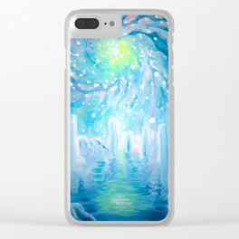 dreamscape with galaxy Clear iPhone Case