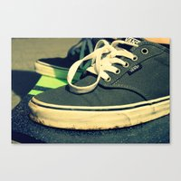 vans Canvas Prints featuring Vans® by Sarah Skupien