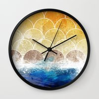scales Wall Clocks featuring Scales by Michael Scott Murphy