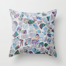 PORTRAITS OF THE PORCELAIN BEAUTY Throw Pillow