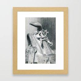 Hangin' Up the Spurs Framed Art Print