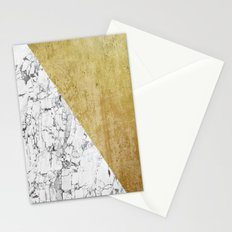 Marble vs GOld Stationery Cards