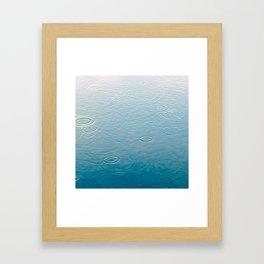 water-lightblue Framed Art Print
