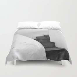 Black and White Stairs Duvet Cover