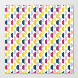 Pink, Blue & Yellow Trapezoids Canvas Print