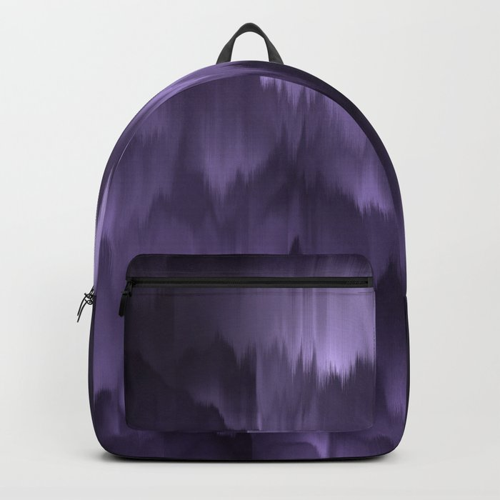 Purple and black. Abstract. Backpack