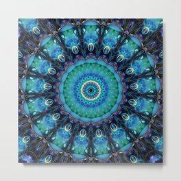 Jewel Of The Ocean Mandala Metal Print