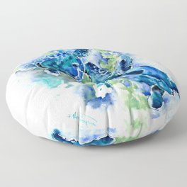 Sea Turtle Turquoise Blue Beach Underwater Scene Green Blue design Floor Pillow