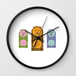 Bear With The Mod Target Belly Wall Clock