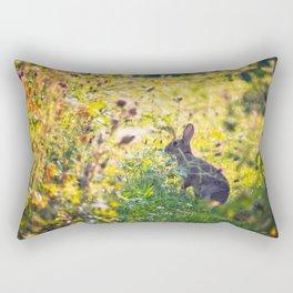 Wild Rabbit Rectangular Pillow