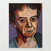 lou reed Canvas Prints featuring Lou Reed by Cara Andrianos