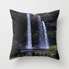 Peaceful Waimea Falls in Kauai, Hawaii Throw Pillow