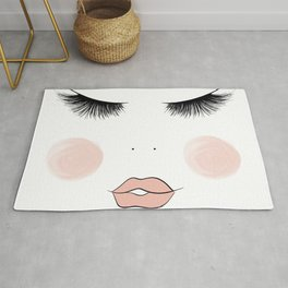 Lashes And Lips Rug