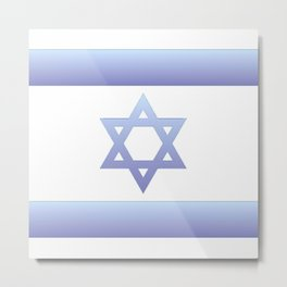 flag of Israel - with color gradient Metal Print