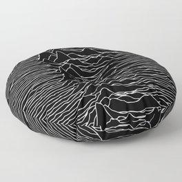 Unknown Pleasures Original Deep Space Black  Floor Pillow