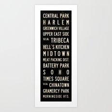 NYC Transit Sign Art Print