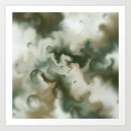 Bubbles in the sky Art Print