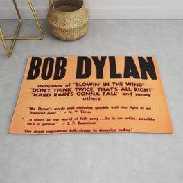 Vintage 1965 Waikiki Shell Hawaii Bob Dylan Concert Poster Rug